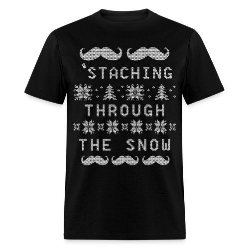 'Staching Through The Snow - Men's T-Shirt