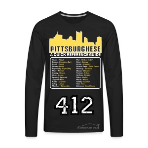 412 Pittsburghese Quick Reference Guide  - Men's Premium Long Sleeve T-Shirt