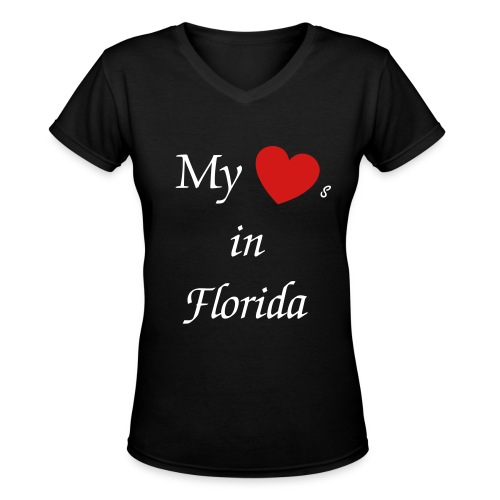 My hearts in... - Women's V-Neck T-Shirt