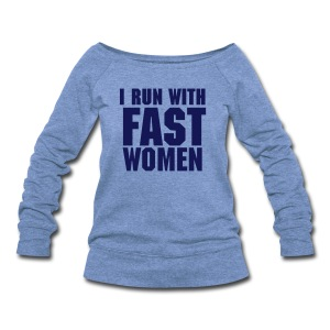 Wide Neck / Women / navy text - Women's Wideneck Sweatshirt