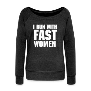 Wide Neck / Women / light text - Women's Wideneck Sweatshirt