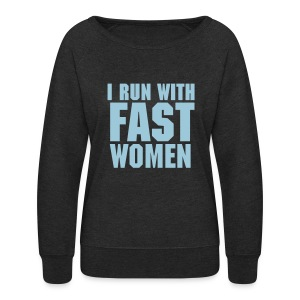 Crew Neck / Women / Gray with blue text - Women's Crewneck Sweatshirt