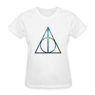 Women's T-Shirts ~ Women's T-Shirt ~ COSMIC DEATHLY HALLOWS - LADIES TSHIRT