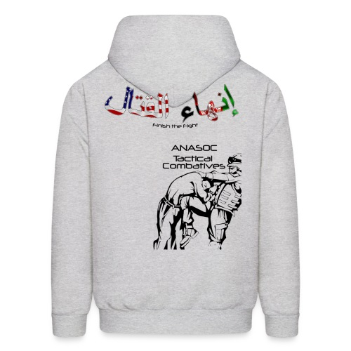 ANASOC Combatives (Flag Lettering) - One side only  - Men's Hoodie