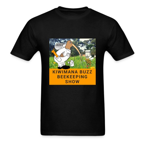 kiwimana Buzz - Black Mens T-Shirt (Gildan) - Men's T-Shirt