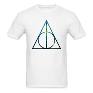 T-Shirts ~ Men's T-Shirt ~ COSMIC DEATHLY HALLOWS - MENS TSHIRT
