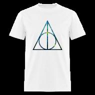 T-Shirts ~ Men's T-Shirt ~ COSMIC DEATHLY HALLOWS - MENS TSHIRT