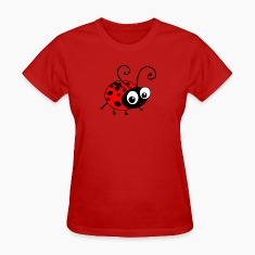 Cute Happy Ladybug Women's T-Shirts