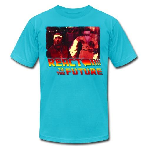 REACT TO THE FUTURE (Men's American Apparel T-Shirt) - Men's Fine Jersey T-Shirt