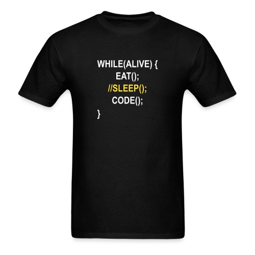 While (alive) - Men's T-Shirt