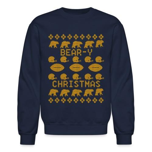 Chicago Bear-Y Christmas Sweater - Crewneck Sweatshirt