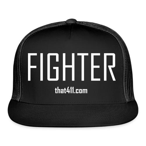 Black and White, Fighter Trucker Hat (Reverse) - Trucker Cap