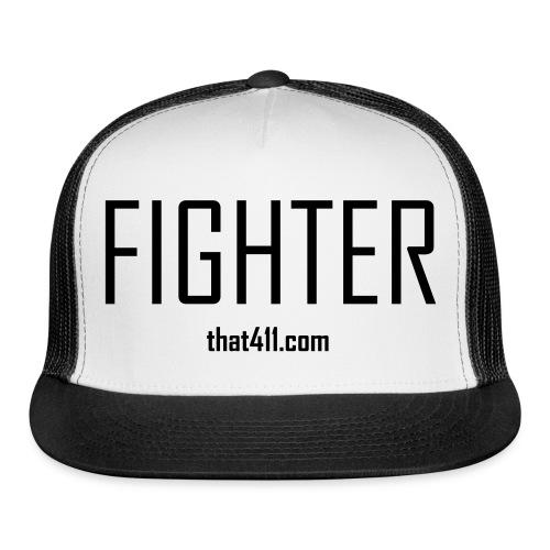Black and White, Fighter Trucker Hat - Trucker Cap