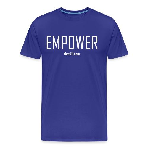 Men's Short Sleeve, Empower T-shirt. Royal Blue w/White Graphic - Men's Premium T-Shirt
