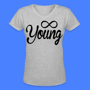 Forever Young Women's - stayflyclothing.com - Women's V-Neck T-Shirt