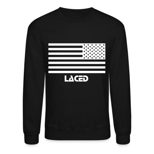 Alt. Flag Black out Laced - Crewneck Sweatshirt