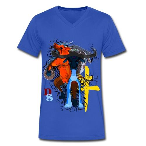 Ox Zodiac:Ox-Head  - Men's V-Neck T-Shirt by Canvas