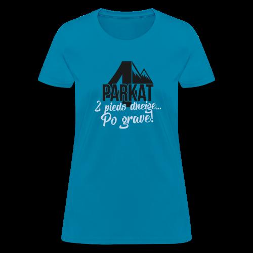 4Parkat  2 pied d'neige fille - Women's T-Shirt