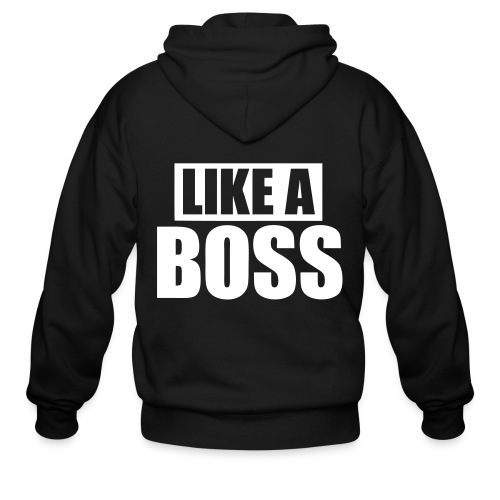 like a boss - Men's Zip Hoodie
