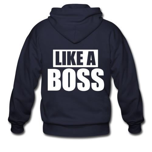 like a boss - Men's Zip Hoodie