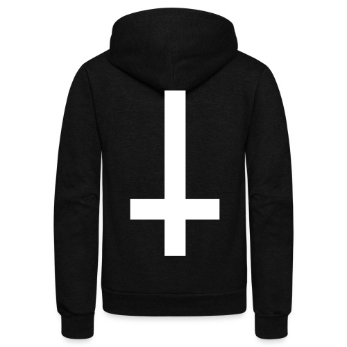 basic CHEAP ASS atheist - Unisex Fleece Zip Hoodie