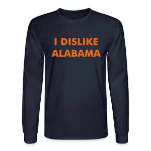 I DISLIKE ALABAMA - Blue (long) - Men's Long Sleeve T-Shirt