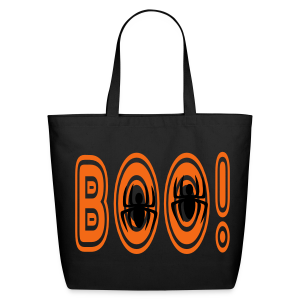 Boo! With Spiders - Eco-Friendly Cotton Tote
