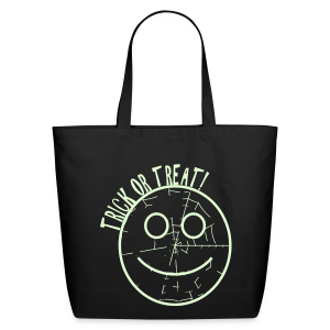 Trick or treat glows in dark - Eco-Friendly Cotton Tote