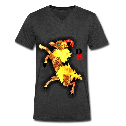 Ram Zodiac: Tanngrisnir - Men's V-Neck T-Shirt by Canvas