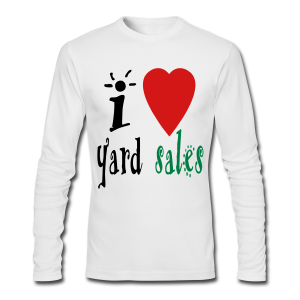 I heart yard sales - Men's Long Sleeve T-Shirt by Next Level