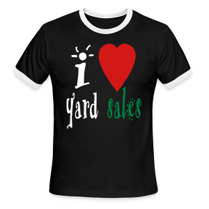 I heart yard sales - Men's Ringer T-Shirt
