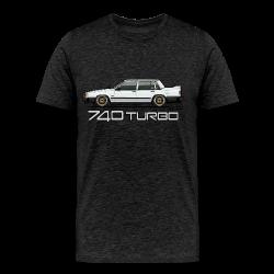 740 744 Turbo Sedan Badge White - Men's Premium T-Shirt