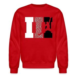 III SweatShirt Red - Crewneck Sweatshirt