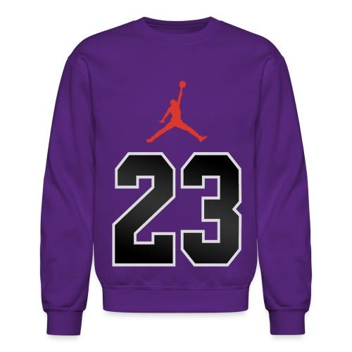 23 SweatShirt Purple - Crewneck Sweatshirt