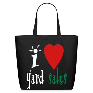 I Heart Yard Sales - Eco-Friendly Cotton Tote