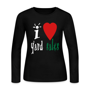 I heart yard sales - Women's Long Sleeve Jersey T-Shirt