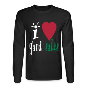 I heart yard sales - Men's Long Sleeve T-Shirt