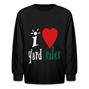 I heart yard sales - Kids' Long Sleeve T-Shirt