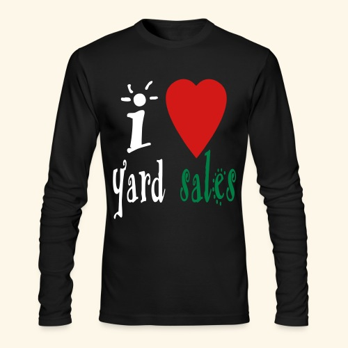 I heart yard sales - Men's Long Sleeve T-Shirt by Next Level