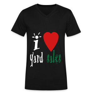 I heart yard sales - Men's V-Neck T-Shirt by Canvas