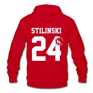 STILINSKI 24 - Zip-up (S Logo) - Unisex Fleece Zip Hoodie by American Apparel
