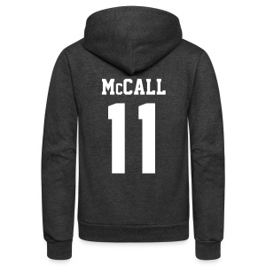 McCALL 11 - Zip-up (S Logo, NBL) - Unisex Fleece Zip Hoodie by American Apparel