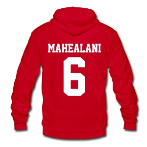 MAHEALANI 6 - Zip-up (S Logo, NBL) - Unisex Fleece Zip Hoodie by American Apparel