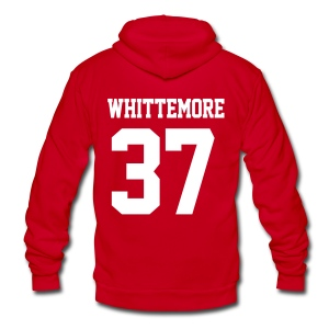 WHITTEMORE 37 - Zip-up (S Logo, NBL) - Unisex Fleece Zip Hoodie by American Apparel