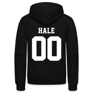 HALE 00 - Zip-up (S Logo, NBL) - Unisex Fleece Zip Hoodie by American Apparel