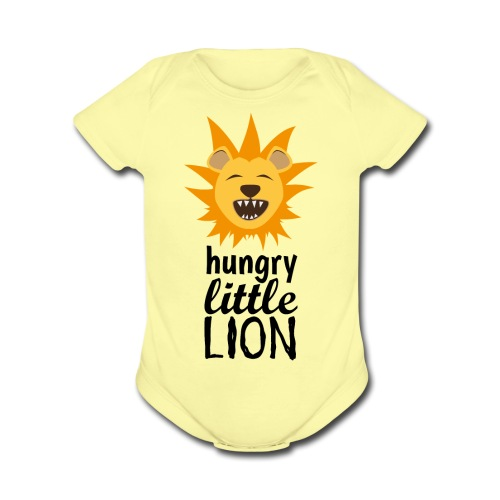 Hungry Cub - Organic Short Sleeve Baby Bodysuit