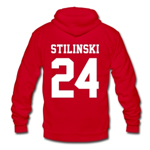 STILINSKI 24 - Zip-up (S Logo, NBL) - Unisex Fleece Zip Hoodie by American Apparel