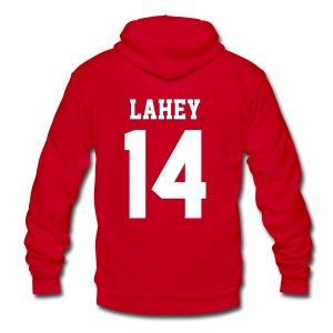 LAHEY 14 - Zip-up (S Logo, NBL) - Unisex Fleece Zip Hoodie by American Apparel