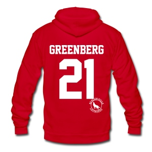 Greenberg 21 - Zip-up (S Logo) - Unisex Fleece Zip Hoodie by American Apparel