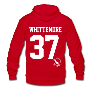 WHITTEMORE 37 - Zip-up (S Logo) - Unisex Fleece Zip Hoodie by American Apparel